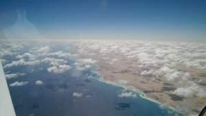 Coastal line of Egypt coming via the Mediterranean sea
