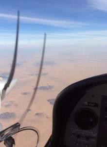 Sudan from above in a DA42NG